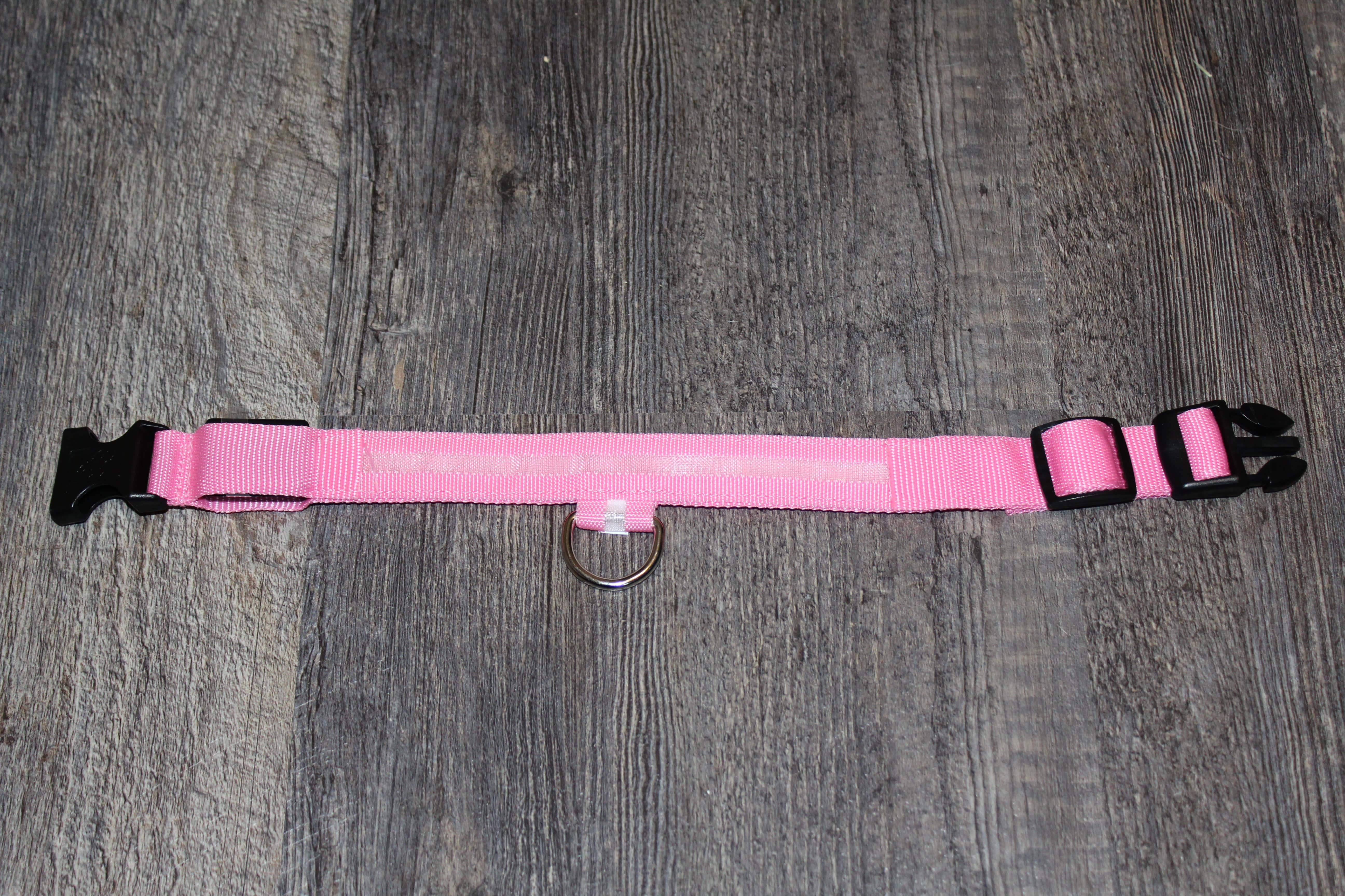 product image of a pink glow collar for dogs